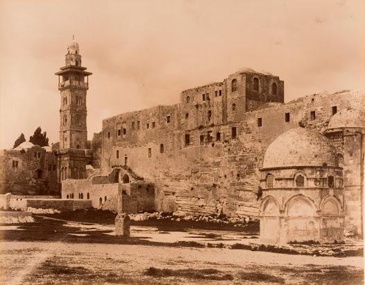 View of the Nizamiye Imperial Barracks from the Haram al-Sharif