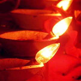 untitled by Debarpan Naha - Buildings & Architecture Places of Worship ( macro, puja, night, light, flower )