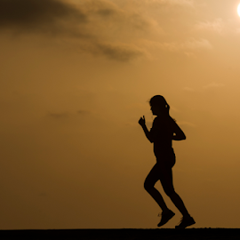 Sport At Sunset by Yuval Shlomo - Sports & Fitness Fitness