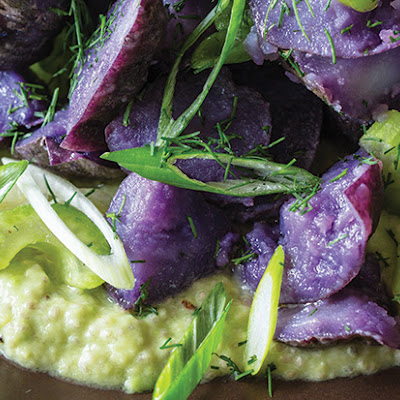 Purple Potato Salad with Avocado-Chia Dressing