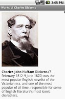 Screenshot of Works of Charles Dickens