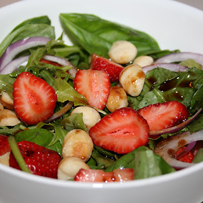 Strawberry, Basil & Macadamia Salad