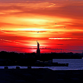 SHE REIGNS by Kendall Eutemey - Artistic Objects Other Objects ( statute of liberty, gift, kendall eutemey, new york city )