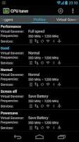Screenshot of CPU tuner (Rooted phones)