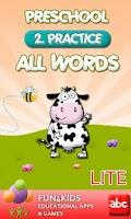 Screenshot of Preschool All Words 2 Lite