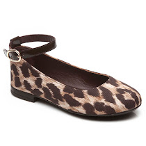 Dolce & Gabbana Leopard Print Canvas BALLERINA  SHOES