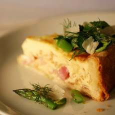 Deep-Dish Ham Quiche with Herb and Asparagus Salad