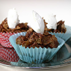Chocolate Fruit and Nut Crispy Cakes