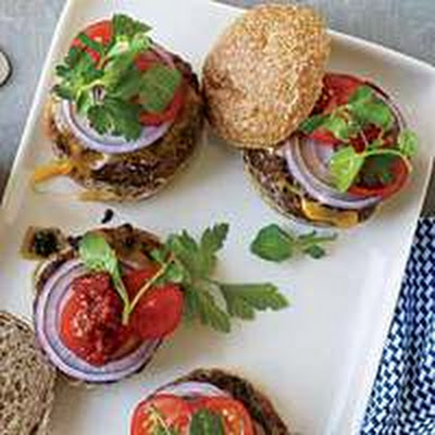 Spicy Lamb Sliders with Harissa