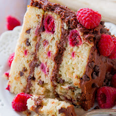 Raspberry Chocolate Chip Layer Cake