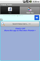 Screenshot of Friend Finder