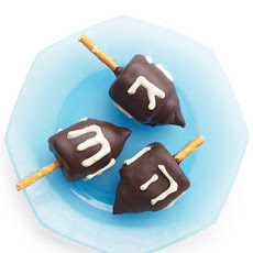 Edible Chocolate Marshmallow Dreidels