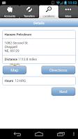 Screenshot of PWCB Mobile Banking NE/WY