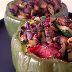 Eggplant-Stuffed Peppers
