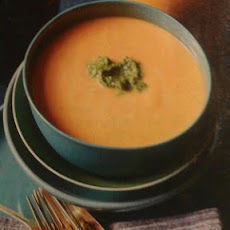 White Bean and Pumpkin Bisque with Sage Pesto