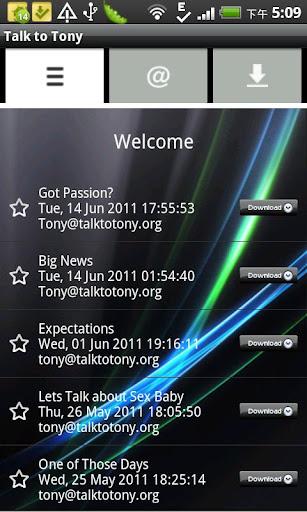Talk to Tony