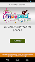 Screenshot of navpad for phone