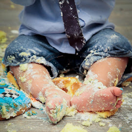 Cake Smash Feet  by Ann Milham - Babies & Children Hands & Feet