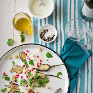 Grilled Eggplant Salad With Yogurt Dressing & A Cookout With Green Diva