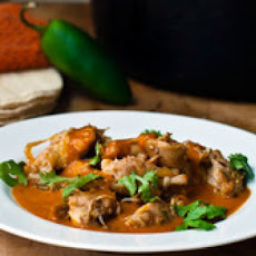 Chicken with Tomatillo and Red Chile Sauce