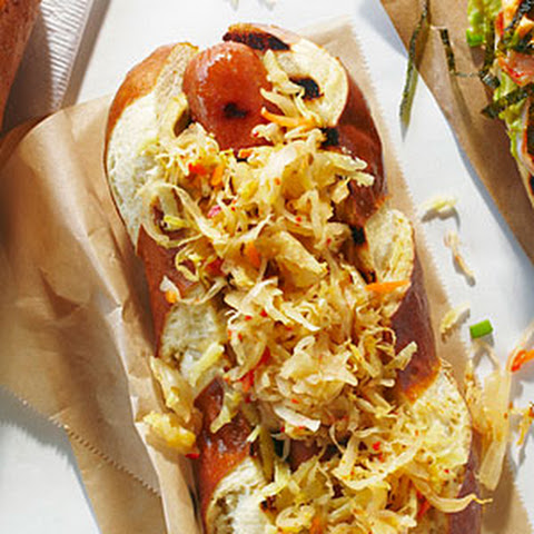 ... dog buns take your hot dogs to a higher two hot dogs with sauerkraut