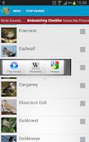 Screenshot of UK Birds Sounds Free