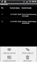 Screenshot of Kilometer Registratie LITE