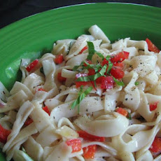 Creamy Chevre and Basil Pasta