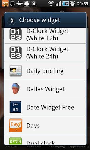 Dallas Widget