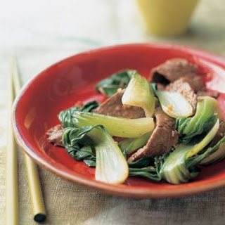 Stir-Fried Beef and Bok Choy with Ginger