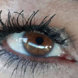 Kerrey said she was going to keep an eye on me. Huh. by Glenn Lemons - People Body Parts