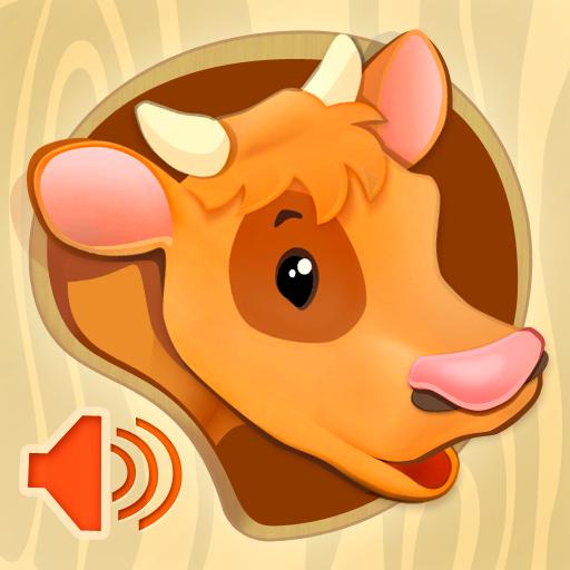 《宝贝识动物》。有动物声音的动画卡 教育 App LOGO-硬是要APP