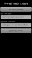 Screenshot of Floorball  Statistics