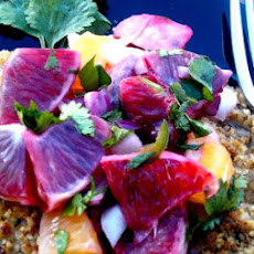 Blood Orange Salsa over Pecan Encrusted Tilapia