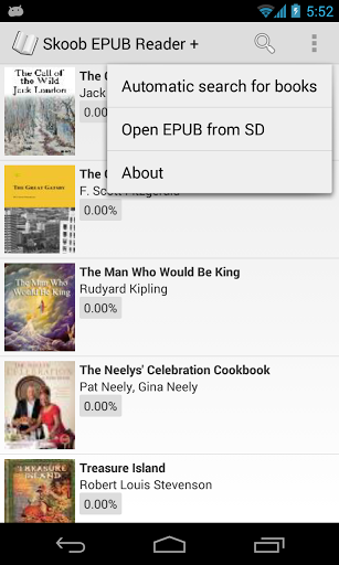 ePUB EBook Reader Skoob Screenshot