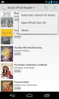 Screenshot of ePUB EBook Reader Skoob