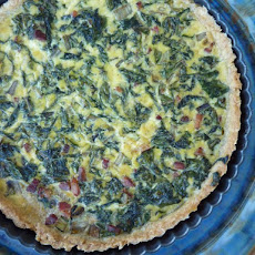 Chard and Pancetta Quiche with Buttery Wheat Crust