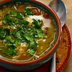 Leftover Turkey (or Ground Turkey) and Pinto Bean White Chili with Lime and Cilantro