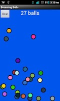 Screenshot of Bouncing Balls