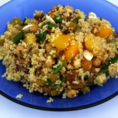 Cous Cous with Garbanzo Beans, Prunes and Almonds