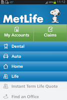Screenshot of MetLife US App