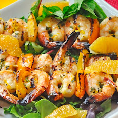 Orange Mint Grilled Shrimp