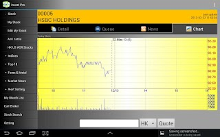 Screenshot of Invest Pro - Tablet