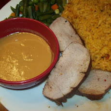 Glazed Pork Tenderloin With Spicy Mustard Dipping Sauce