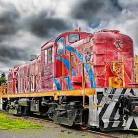 Oklahoma Railway Museum by Duane Angles - Transportation Trains ( train,  )