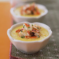 Steamed Corn Custards with Crab