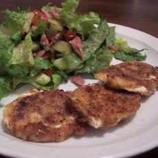 Fried Mozzarella With Salami & Portabella Salad (30 Min Meal