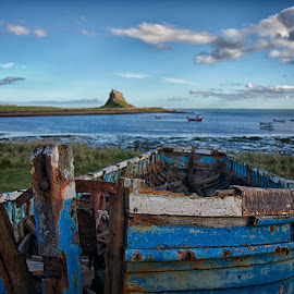 abandoned by Phil Robson - Transportation Boats ( old boat, holy island, lindisfarne )