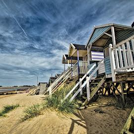 Norfolk Coast by Roy Branford - Landscapes Beaches ( sky, sea sand, beach huts, norfolk, photoshop,  )