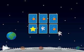 Screenshot of Space Memory Game for Kids